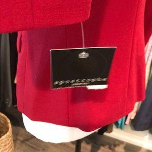Apostrophe Jackets & Coats - NWT Apostrophe Red Hot blazer. Size 4